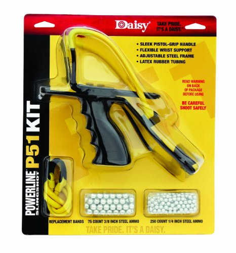 Daisy Outdoor Products P51 Slingshot Kit (Yellow/Black, 8 Inch) front-699141