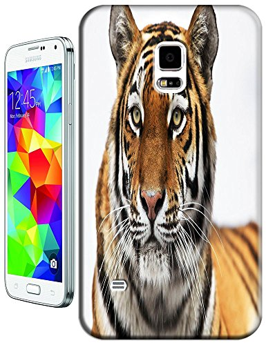 Lovely Power Tigers Cases Covers Phone Hard Back Cases Beautiful Nice Cute Animal Hot Selling Cell Phone Cases For Samsung Galaxy S5 I9600 # 10 front-879970
