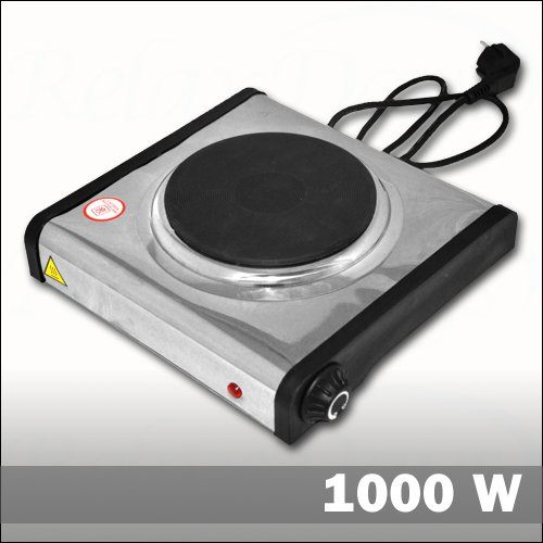 R chauds plaque de cuisson 1000 w en inox for Plaque de cuisson en inox