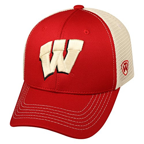 Wisconsin Badgers Official NCAA Ranger Hat Cap by Top of the World 714066 (Wi Badger Hat compare prices)