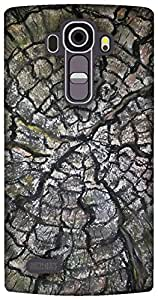 The Racoon Grip tree rings hard plastic printed back case / cover for LG G4