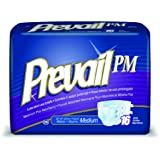 """Prevail Pm Extended Wear Adult Briefs Blue/45 to 58""""/Case of 72"""