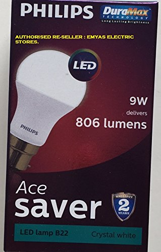 Ace Saver 9W LED Bulb (Crystal White and Cool Day Light)