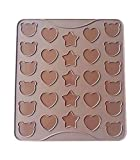 Bear Heart Star Silicone Macaron Mat Oven Baking Liner Sheet Cookie Bakeware