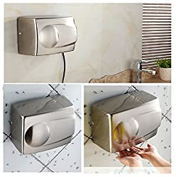 KITSCH(TM) Fast Dry AUTOMATIC SENSOR ACTIVATED 1500W Stainless Steel Hand Dryer