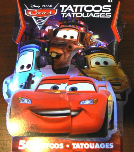 Disney Cars 2 3D Novelty Pack of 50 Temporary Tattoos