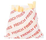 Burger Fries & Hot Dog Foil Wrap Bags - 50 French Fry Holders + 25 Hamburger & Cheeseburger Bags & 25 Hot Dog Foil Wraps 50 sandwich Printed Design outdoor picnic BBQ party pack sandwich papers