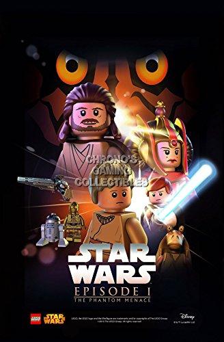 "CGC Huge Poster - Lego Star Wars Episode I The Phantom Menace Moive Poster - STWL01 (24"" x 36"" (61cm x 91.5cm))"