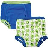 Luvable Friends Little Boys' Toddler 2-Pack Training Pants