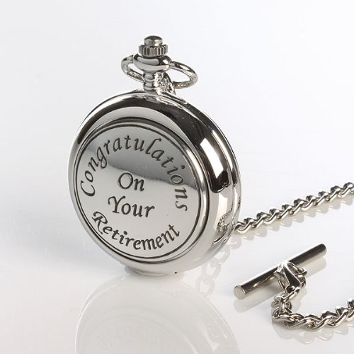 Retirement Pocket Watch With Personalised Gift Box