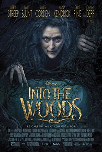 INTO THE WOODS MOVIE POSTER 2 Sided ORIGINAL 27x40 JOHNNY DEPP MERYL STREEP