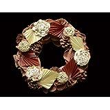 Exotic Creations Apple Pie -Dried flower wreath(L=40 cm X W=40 cm X D= 40 cm)