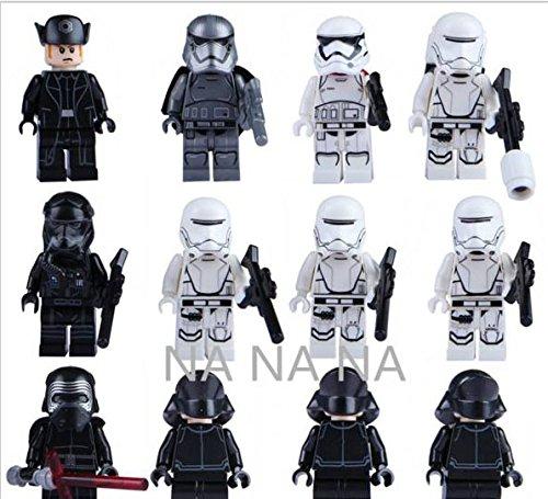 12Pcs-Star-Wars-7-Minifigures-The-Force-Awakens-Kylo-Ren-Captain-Phasma-Building-Blocks-Set-Figures-Bricks-Toys-Lego-Compatible