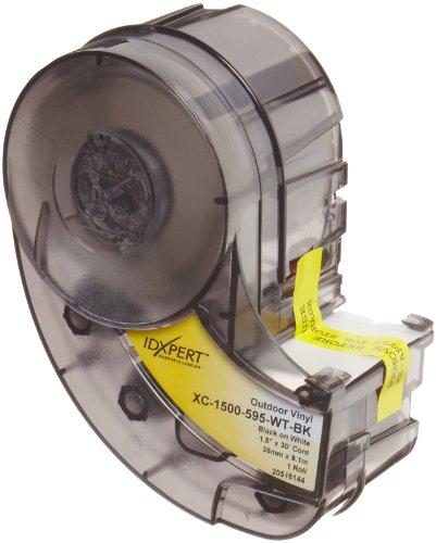 "Brady Xc-1500-595-Wt-Bk Idxpert(Tm) & Labxpert(Tm) Labels B- 595 Indoor/Outdoor Vinyl Film Black On White, Printable Area: 19.000"" W X 1.500"" H 1 Roll (30Ft.)/Cartridge"