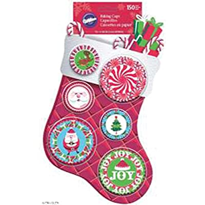 Wilton Assorted Christmas Mini and Standard Baking Cups, 150-Count