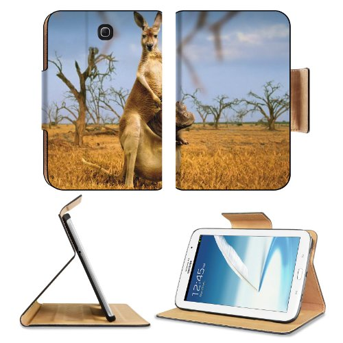 Animal Australia Kangaroo Baby Mammal Nature Samsung Galaxy Note 8 Gt-N5100 Gt-N5110 Gt-N5120 Flip Case Stand Magnetic Cover Open Ports Customized Made To Order Support Ready Premium Deluxe Pu Leather 8 7/16 Inch (215Mm) X 5 11/16 Inch (145Mm) X 11/16 Inc front-872339