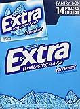 Wrigley's Extra Peppermint Sugar Free Gum Pantry Box - 14 Packs of 15 Pieces