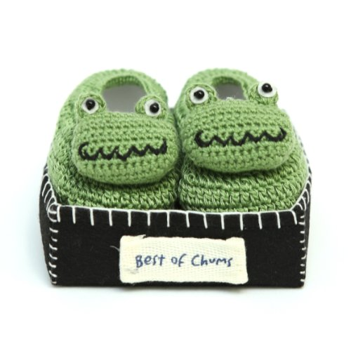 Best of Chums Baby Crochet Bootie Monster Frog