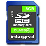 Integral 8Gb SDHC Class 4 Memory Card