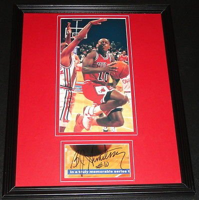 BJ B.J. Armstrong Signed Framed 11x14 Photo Display Chicago Bulls at Amazon.com