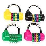 Generic Practical 4 Digit Secure Combination Lock Password Gym Padlock Die-cast Zinc