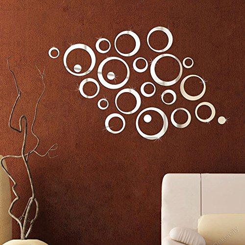 Soled meraviglio adesivi murales tono argento 3d - Unghie effetto specchio fai da te ...