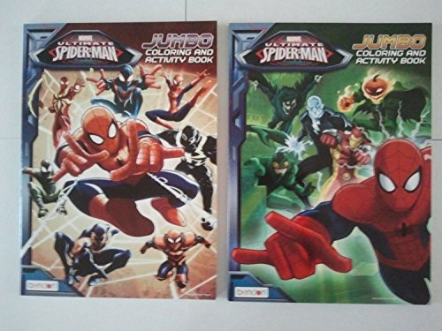 Marvel Spiderman Jumbo Coloring Book Set of 2