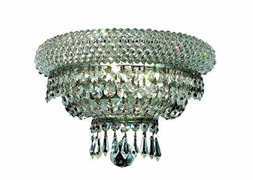 """Adele 2-Light 12""""D Crystal Wall Sconce 1533W12C-Ss"""