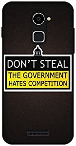 The Racoon Lean The Government hard plastic printed back case / cover for Coolpad Note 3 Lite