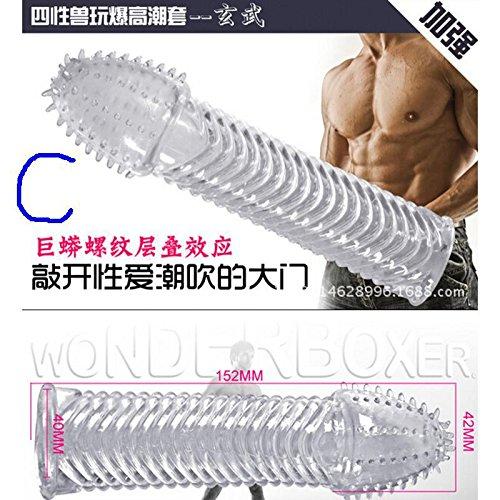 Shuxen(TM) Reuseable Crystal Condoms Penis Extender Ejaculation Delay Penis Enlargement Sleeves