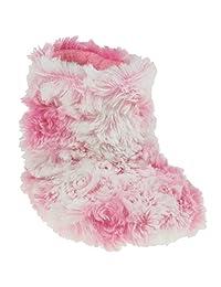 Capelli New York Toddler Girls Rosette Swirl Faux Fur Boot Slipper