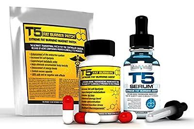 Biogen Health Science T5 Fat Burner Power Bundle : 28 x T5 Patches - 1 x T5 Capsules - 1 x T5 Serum XT