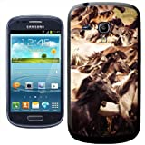 Fancy A Snuggle Wild Horses Running Clip-on Hard Back Cover for Samsung Galaxy S3 Mini i8190