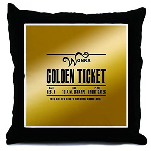 CafePress - Wonka Golden Ticket - Throw Pillow, Decorative Accent Pillow (Movie Ticket Accent Pillow compare prices)