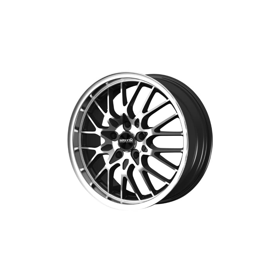 Maxxim CHANCE Black Wheel with Machined Lip and Face (17x7/5x112mm, +40mm offset)