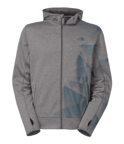 The North Face Men'S Surgent Full Zip Printed Hoodie 2X-Large Heather Grey