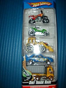 Amazon.com: Hot Wheels 5 Car Gift Pack - Dirt Track Race: Toys & Games