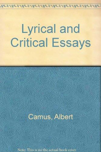 albert camus lyrical critical essays quotes