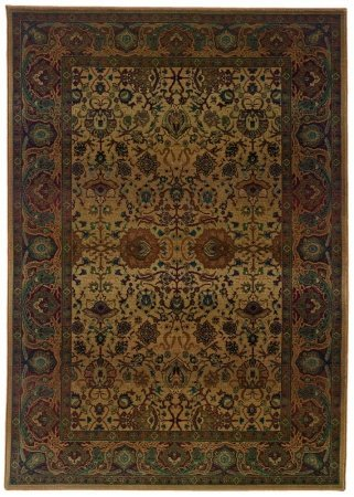 Sphinx by Oriental Weavers 748679243389 Kharma 2.25 ft. x 4.42 ft. Traditional Rug - Beige and Red