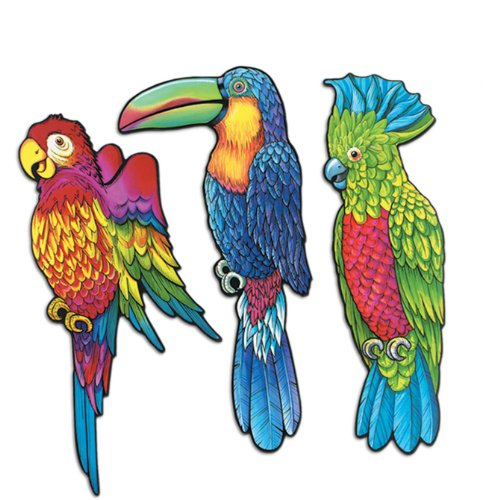 Exotic Bird Cutouts Party Accessory (1 count) - 1