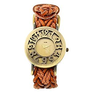 KITCONE leather bracelet watch rope weaving Women's & girls watch