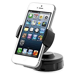 iOttie Easy Flex2 Windshield Dashboard Car Mount Holder Desk Stand for iPhone 5 4S 4 3GS Samsung Galaxy S3 S2 Epic Touch 4G HTC One X EVO 4G Rhyme DROID RAZR BIONIC INCREDIBLE 2 CHARGE Google BlackBerry Torch LG Revolution GPS Compact Size 360 degree Rotatable
