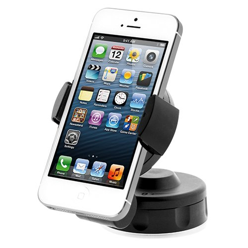 iOttie Easy Flex2 Windshield Dashboard Car Mount Holder Desk Stand for iPhone 5 4S 4 3GS Samsung Galaxy S4 S3 S2 Epic Touch 4G HTC One X EVO 4G Rhyme DROID RAZR BIONIC INCREDIBLE 2 CHARGE Google BlackBerry Torch LG Revolution GPS Compact Size 360 degree Rotatable