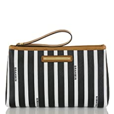 Medium Stella Pouch<br>Black Signature Stripe