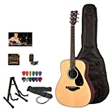 Yamaha FG700S Acoustic Guitar Kit - Includes: Lesson, ChromaCast Gig Bag, Strings, Strap, Stand, Tuner and Pick Sampler