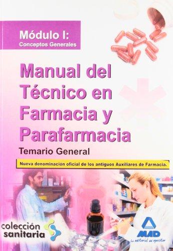 MANUAL DEL TECNICO EN FARMACIA Y PARAFARMACIA