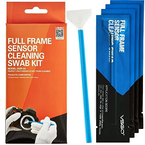 VSGO Full Frame DSLR SLR Camera Sensor Cleaning Swab Kit DDR