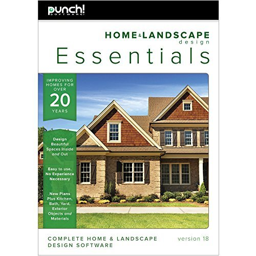 Punch home landscape design essentials v18 for Punch home design