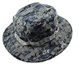 OSdream Tactical Head Wear/Boonie Hat Cap For Wargame,Sports,Fishing and Outdoor Activties (Blue digital)