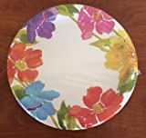 Color Paper Plates Round (9 Roound-18 Count, Colored Flowers) by Greenbrier